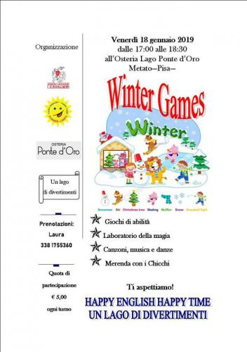 WINTER GAMES.  UN LAGO DI DIVERTIMENTI